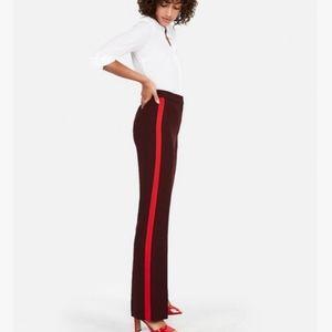 Express Super High Rise Side Stripe Wide Leg Pants